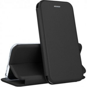 Кожаный чехол-книжка 360 с визитницей для Xiaomi Pocophone F1 – Black