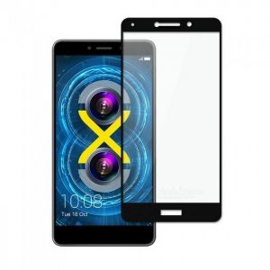 Защитное стекло 2.5D (3D) Full Cover на весь экран для Huawei GR5 2017 — Black