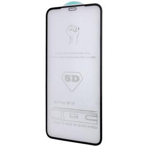 Защитное стекло 5D Premium Full Glue на весь экран для Iphone XR / 11 – Black