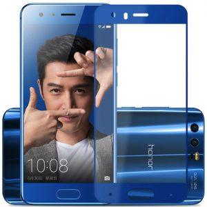 Защитное стекло 2.5D (3D) Full Cover на весь экран для Huawei Honor 9 — Blue