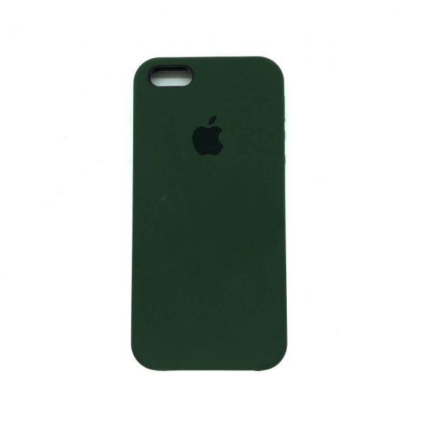 Оригинальный чехол Silicone Case с микрофиброй для Iphone 5 / 5s / 5c /SE №42 (New Khaki)