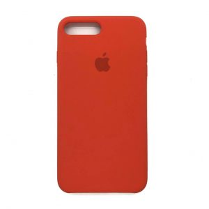 Оригинальный чехол Silicone Case с микрофиброй для Iphone 7 Plus / 8 Plus №18 (Orange)