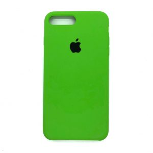 Оригинальный чехол Silicone Case с микрофиброй для Iphone 7 Plus / 8 Plus №27 (Ultra Green)