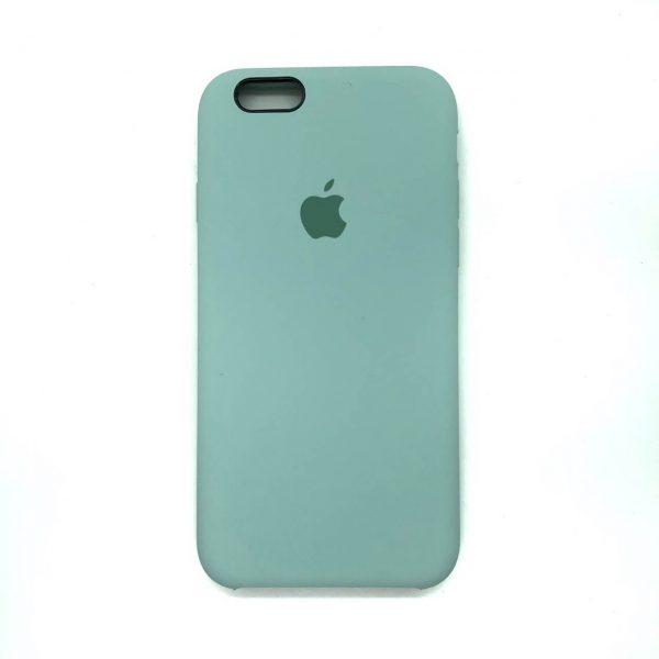 Оригинальный чехол Silicone Case с микрофиброй для Iphone 6 / 6s  №21 (Light mint)