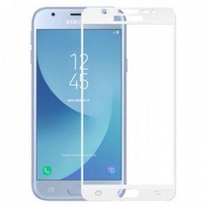 Защитное стекло 2.5D (3D) Full Cover на весь экран для Samsung Galaxy J3 2016 (J310 / J320) – White