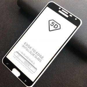 Защитное стекло 5D Full Glue Cover Glass на весь экран для Samsung Galaxy J4 2018 (J400) – Black