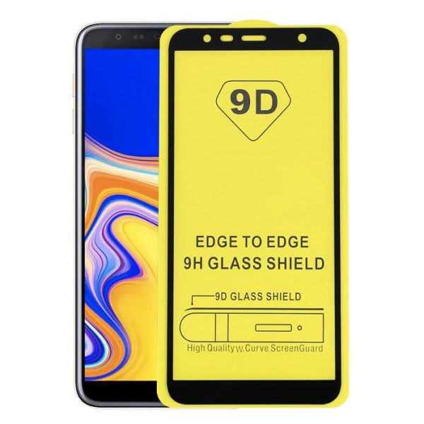 Защитное стекло 9D Full Glue Cover Glass на весь экран для Samsung Galaxy J4 Plus 2018 (J415) – Black