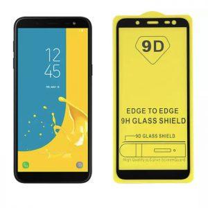 Защитное стекло 9D Full Glue Cover Glass на весь экран для Samsung Galaxy J6 2018 (J600) – Black