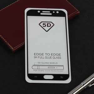 Защитное стекло 5D Full Glue Cover Glass на весь экран для Samsung Galaxy J7 2017 (J730) – Black