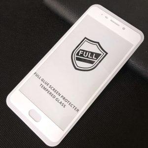 Защитное стекло 3D (5D) Perfect Glass Full Glue на весь экран для Meizu M6 Note — White