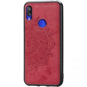 TPU+Textile чехол Mandala с 3D тиснением для Huawei P Smart Z (Красный)