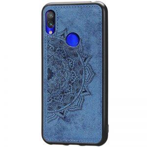 TPU+Textile чехол Mandala с 3D тиснением для Huawei P Smart Z (Синий)