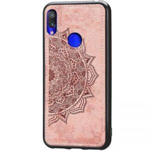 TPU+Textile чехол Mandala с 3D тиснением для Huawei P Smart Z (Розовый)