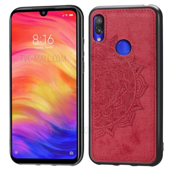TPU+Textile чехол Mandala с 3D тиснением для Samsung Galaxy A10s 2019 (A107) — Красный