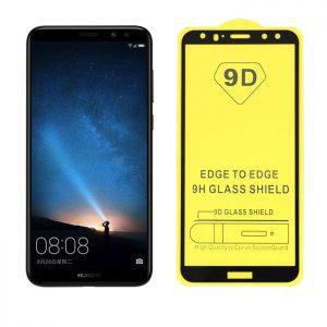 Защитное стекло 9D Full Glue Cover Glass на весь экран для Huawei Mate 10 Lite — Black
