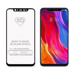 Защитное стекло 5D Full Glue Cover Glass на весь экран для Xiaomi Mi 8 – Black