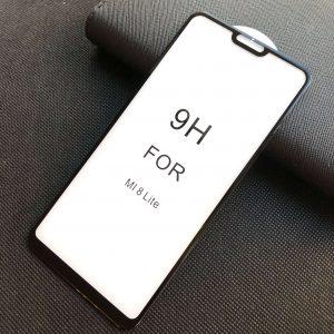 Защитное стекло 5D Premium 9H Full Glue на весь экран для Xiaomi Mi 8 Lite — Black