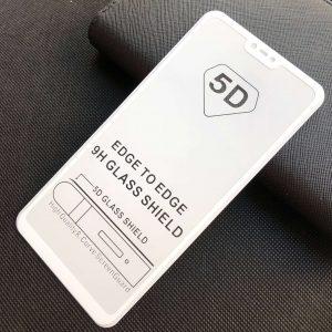 Защитное стекло 5D Full Glue Cover Glass на весь экран для Xiaomi Mi 8 Lite – White