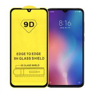 Защитное стекло 9D Full Glue Cover Glass на весь экран для Xiaomi Mi 9 – Black