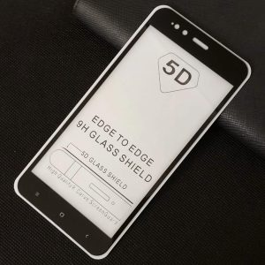 Защитное стекло 5D Full Glue Cover Glass на весь экран для Xiaomi Mi 5x / Mi A1 – Black