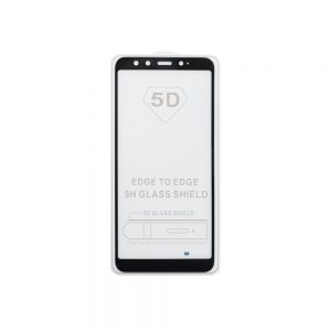 Защитное стекло 5D Full Glue Cover Glass на весь экран для Xiaomi Mi 6x / Mi A2 — Black