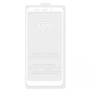 Защитное стекло 5D Full Glue Cover Glass на весь экран для Xiaomi Mi 6x / Mi A2 — White