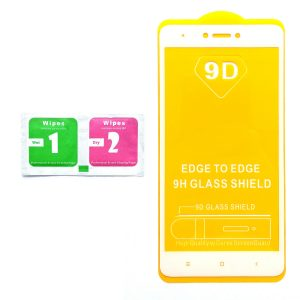 Защитное стекло 9D Full Glue Cover Glass на весь экран для Xiaomi Redmi Note 4x / Note 4 (Snapdragon) – White