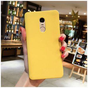 Матовый силиконовый TPU чехол для Xiaomi Redmi Note 4x (Желтый)