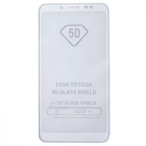 Защитное стекло 5D Full Glue Cover Glass на весь экран для Xiaomi Redmi Note 5 / 5 Pro – White