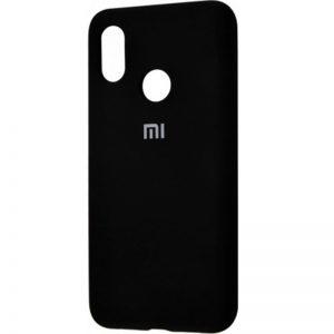Оригинальный чехол Silicone Cover 360 с микрофиброй для Xiaomi Redmi Note 7 / 7 Pro (Черный)