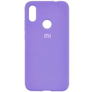 Оригинальный чехол Silicone Cover 360 с микрофиброй для Xiaomi Redmi 7 (Сиреневый)