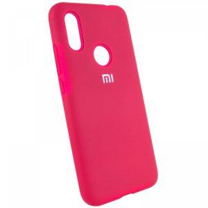 Оригинальный чехол Silicone Cover 360 с микрофиброй для Xiaomi Redmi 7 (Ярко-розовый)