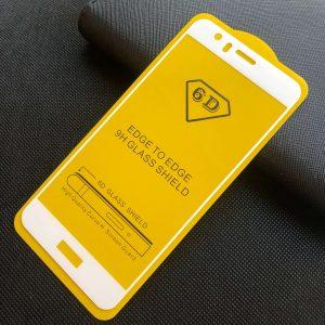 Защитное стекло 6D Full Glue Cover Glass на весь экран для Huawei P10 Lite – White
