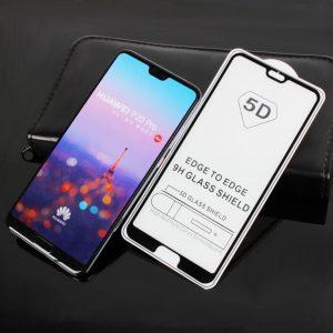 Защитное стекло 5D Full Glue Cover Glass на весь экран для Huawei P20 Pro – Black