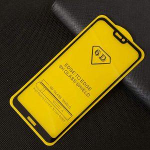 Защитное стекло 6D Full Glue Cover Glass на весь экран для Huawei P20 Lite — Black