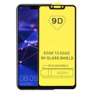 Защитное стекло 9D Full Glue Cover Glass на весь экран для Huawei P Smart Plus / Nova 3i — Black