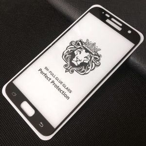 Защитное стекло 3D (5D) Perfect Glass Full Glue Lion на весь экран для Samsung G930 Galaxy S7 — Black