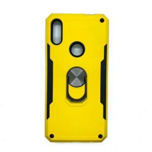 Ударопрочный чехол SG Ring Color под магнитный держатель с кольцом для Huawei P Smart Z (Желтый)