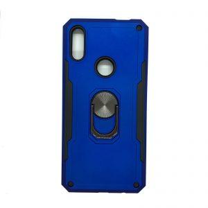 Ударопрочный чехол SG Ring Color под магнитный держатель с кольцом для Huawei P Smart Z (Синий)