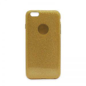 Cиликоновый (TPU+PC) чехол Shine с блестками для Iphone 6 / 6S (Золотой)
