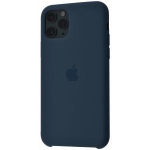 Оригинальный чехол Silicone Case с микрофиброй для Iphone 11 – Midnight blue