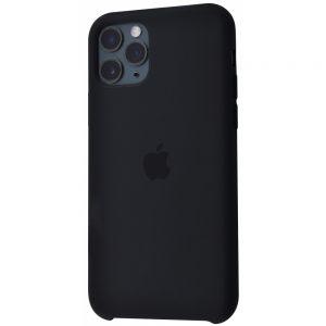 Оригинальный чехол Silicone Case с микрофиброй для Iphone 11 Pro – Black