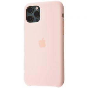 Оригинальный чехол Silicone Case с микрофиброй для Iphone 11 – Pink sand