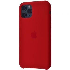 Оригинальный чехол Silicone Case с микрофиброй для Iphone 11 – Red