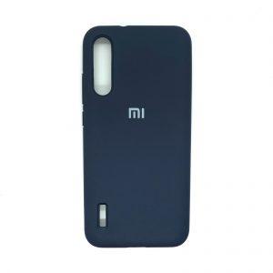 Оригинальный чехол Silicone Cover 360 с микрофиброй для Xiaomi Mi A3 / CC9e (Темно-синий)