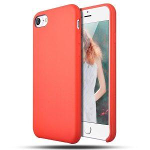 Матовый силиконовый (TPU) чехол для Iphone 6 / 6S (Красный)