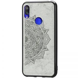 TPU+Textile чехол Mandala с 3D тиснением для  Samsung Galaxy A10s 2019 (A107) — Серый