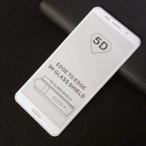 Защитное стекло 5D Full Glue Cover Glass на весь экран для Huawei Y5 / Y5 Prime 2018 / Honor 7A — White