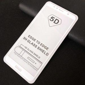 Защитное стекло 5D Full Glue Cover Glass на весь экран для Huawei Y6 / Y6 Prime 2018 / Honor 7A Pro / 7C – White