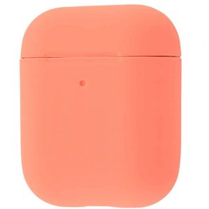 Чехол для наушников Silicone Case Slim для Apple Airpods 2 – Begonia red